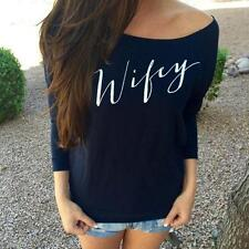 New Brand Sexy Womens Long Sleeve Off Shoulder Loose T-Shirt Tops Blouse new!