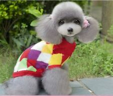 Dog Pet Sweater Puppy Clothes New Winter Warm Coat Size XS S M Colorful