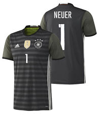 ADIDAS EURO 2016 GERMANY MANUEL NEUER AWAY JERSEY Dark Grey Heather /