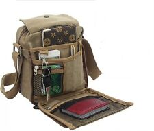 New Vintage Mens Canvas Messenger Shoulder Bag Multifunction Travel Satchel