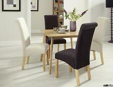 Paddington Oak 900 Fixed Dining Table & x4 Dining Chairs
