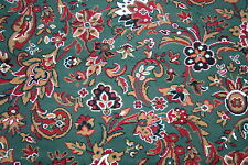 Quality Green Floral Wilton Any Size x 4m Multi Pattern Woven-Backed Carpet