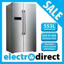 Brand New 553 Litre Side by Side Refrigerator Fridge Freezer Stainless Steel