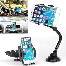 Universal Car CD Dash Slot Dock Mount + Windshield Suction Cup Holder For Phones