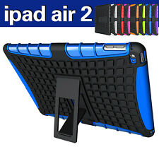 Heavy Duty Hybrid Shock Proof Case for Apple iPad Air 2 iPad 6 with Kickstand