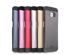 Hybrid Brushed Metal Case Cover For Samsung Galaxy S4 S5 S6 Edge Note 3 4 5