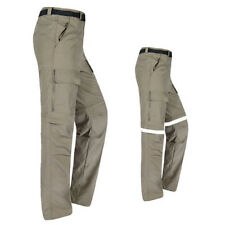 Mens Quick Dry Zip Off Convertible Pants Shorts Outdoor Hiking Travel Trousers