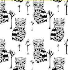 Tree Owl home decor Spoonflower fabric by the yard in a variety of cotton