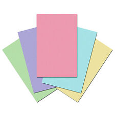 100 Sheets of Quality 80gsm Craft Copy Paper. Perfect for Printer. Plain Pastel
