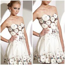 NWT TERANI COUTURE COCKTAIL BEJEWELED SPARKLE STRAPLESS DRESS $398 SZ 2,4,6,8
