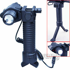 Tactical Rifle Foldable Foregrip Bipod / Red Laser Sight /CREE LED Flashlight