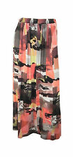 Marks & Spencer Multi Colour Abstract Print Maxi Skirt with Elasticated Waist