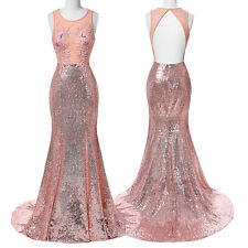 Womens Mermaid Sequined Maxi Prom Dress Evening Party Cocktail Bridesmaid Dress