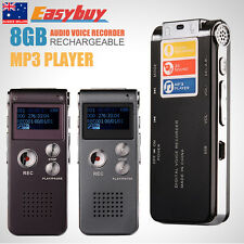 2016Rechargeable 8GB Digital Audio Voice Recorder Dictaphone Telephone MP3Playe