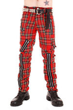 Tiger of London Red Tartan Bondage Pants Punk