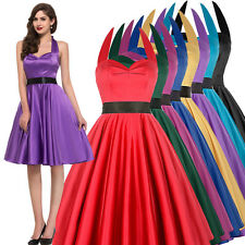 WOMENS 40s 50s DRESS Vintage Style Swing Pinup Housewife Dance Tea Party Evening