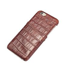 iPhone 6 Plus Case,Levanpro Genuine Leather Embossed Crocodile with Card Slot