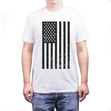 Men's Vintage American Flag Fourth of July T-shirt Casual T-shirt on July 4th