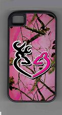 L@@K! Pink Deer Heart camo cell phone or iPod case or wallet!