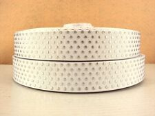 2 Yards White Silver Polka Dots Grosgrain Ribbon 7/8 Inch 22mm