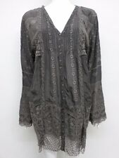 NWT Johnny Was Embroidered Crochet Hem Tunic - 1X / 2X - JW123816
