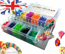 COLOURFUL RAINBOW RUBBER LOOM BANDS BRACELE KIT SETS AND BAGS VARIOUS SIZES