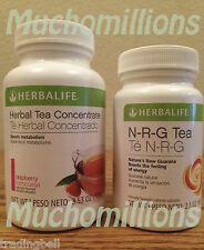 Herbalife NRG Tea 2.12oz + Herbal Tea Concentrate 3.5oz ALL FLAVORS AVAILABLE