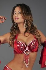 BUTTERFLY PATTERN Tribal Gypsy Belly Dancer Ethnic SPARKLING Sequin BRA TOP New