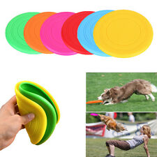 SOFT SILICONE THROWING FLYING DISC FRISBEE BEACH FETCH TOY FOR PET DOG PUPPY NEW