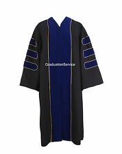 Deluxe Doctoral Graduation Gown With Gold Piping Unisex PHD Gown