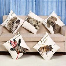 "18"" Animal Dog Cat Pillow Case Office Home Car Decor Cushion Cover Square DIY"