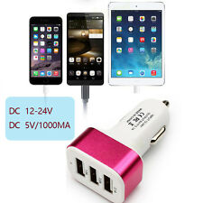 Triple universal USB Car Charger Adapter Socket Car Styling USB Charger For Car