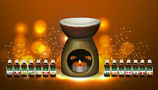 Ceramic Oil Warmer Diffuser Burner Aroma Fragrance Lamp with choice of oil: gift