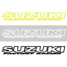 Factory Racing NEW Mx Suzuki Decal Black Yellow White 200mm Motocross Sticker