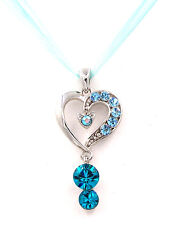 Made with Swarovski Elements Crystal Angel Clover Cross Heart Necklace Gift