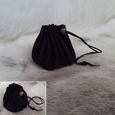 Leather Drawstring Pouch - Ideal For Medieval LARP / Re-Enactment