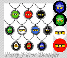 Ninjago Bottle Cap Party Favors / Necklaces,Magnets,Keychains / Choose QUANTITY