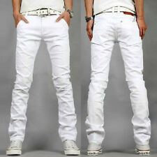 Fashion Mens Skinny Straight Leg Pants Slim Fit Casual Jeans Slacks Trousers New