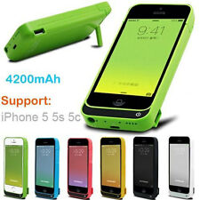 4200mAh External Battery Backup Charger Case Pack Power Bank for iPhone SE 5 5s