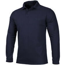 Pentagon Polo 2.0 Shirt Long Sleeve Marines Army Airforce Wear Casual Navy Blue