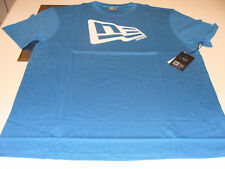 New Era Apparel T Shirt Flag Blue Aqua 100% Cotton NWT