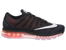NEW MENS NIKE AIR MAX 2016 RUNNING SHOES TRAINERS BLACK / TOTAL CRIMSON / SQUADR