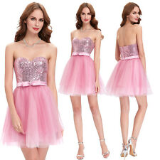Sequined Formal Evening Cocktail Dress Prom Ball Party Gown Bridesmaid Dresses