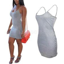 Fashion Women's Sexy Bodycon Backless Strappy Sleeveless Mini Spaghetti Dress