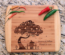 Cutting Board Personalized, Bamboo, Wedding, Anniversary, laser Engraved