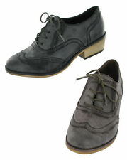 SALE Update L4897 Ladies Black or Brown Synthetic Brogue Shoes Work, Casual