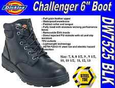 "Dickies Men's Challenger 6"" Steel Toe Work Boots - DW7525 - Black"