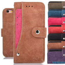 Retro Card Pocket Leather Wallet Case Stand Cover for iPhone 5s SE 6 6s 4.7/Plus