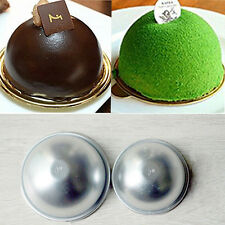 3D Aluminum Ball Sphere Bath Bomb Mold Cake Pan Tin Baking Pastry Mould Silver