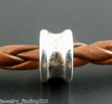 Lots Wholesale Silver Tone Spacers Beads Jewelry Finding 6x4mm
